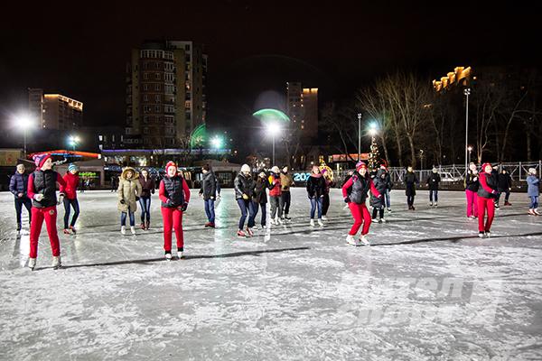 Новогодний корпоратив на катке «Атомэнергомаш»